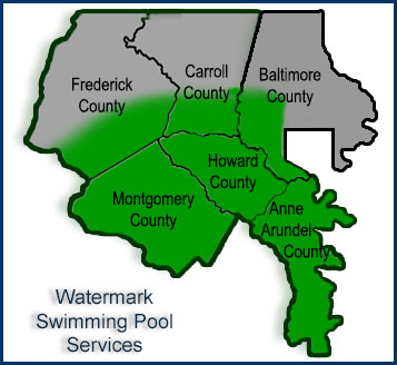Maryland pool services anne arundel howard montgomery carroll frederick counties watermark for Swimming pools in baltimore county